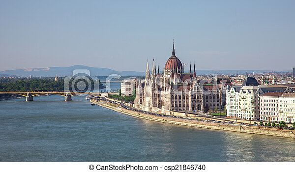parliament of hungary in budapest - csp21846740