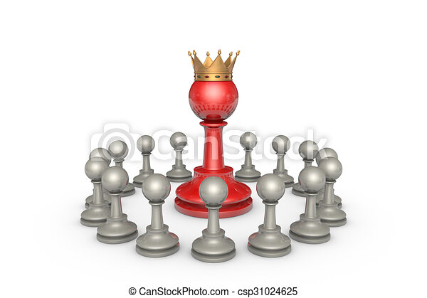 Parliamentary elections or the political elite (chess metaphor) - csp31024625