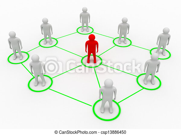 parner network concept - csp13886450