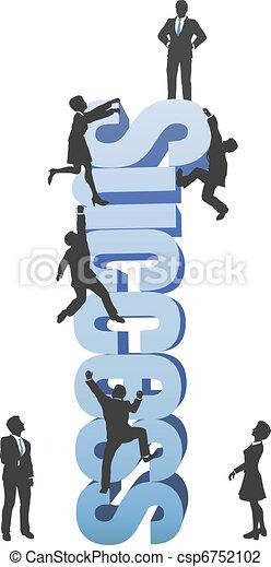 parola, affari, successo, persone, su, ambizione, arrampicarsi - csp6752102