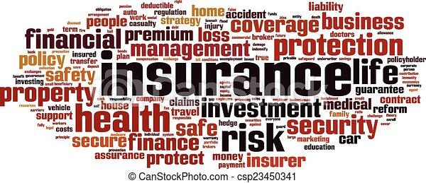 parola, assicurazione, nuvola - csp23450341