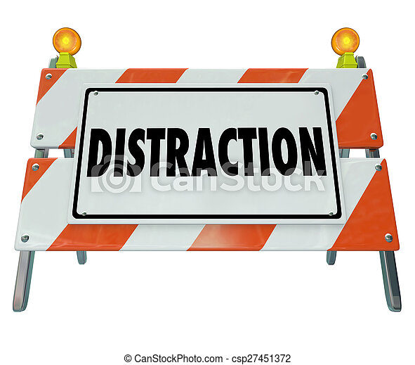 parola, barriera, guida, distratto, segno, avvertimento, barricata, distrazione - csp27451372