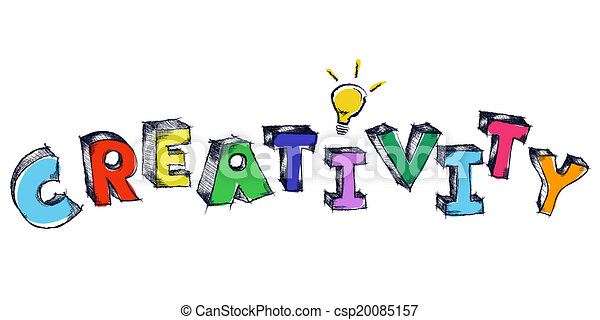 parola, luce colorita, creatività, sketchy, bulbo - csp20085157