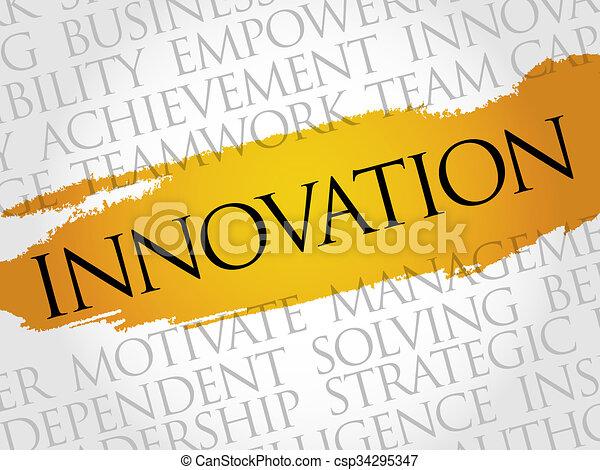 parola, nuvola, innovazione - csp34295347