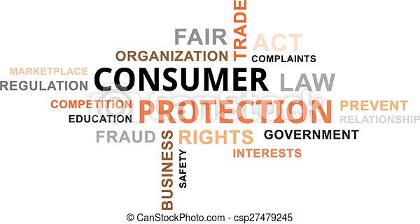 parola, protezione, -, consumatore, nuvola - csp27479245