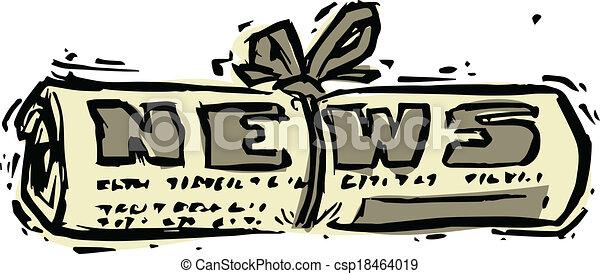 parola, rotolato, titolo, giornale, notizie - csp18464019