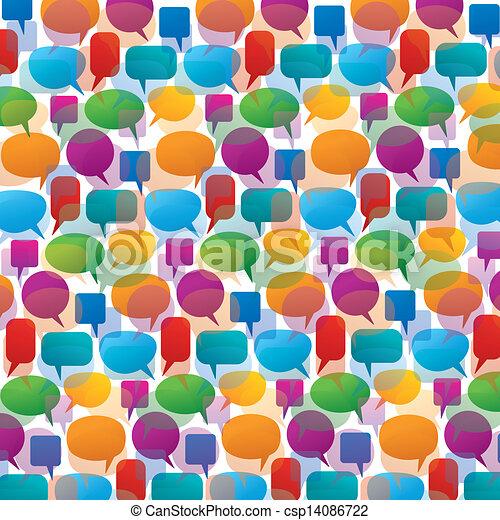 parole, collection, coloré, t - csp14086722