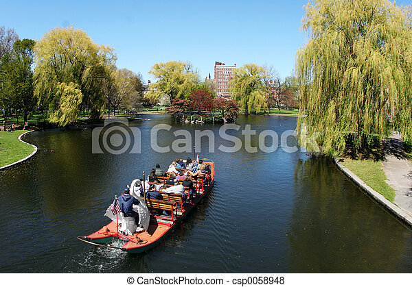 parque, barco - csp0058948