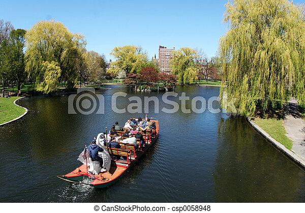 parque, bote - csp0058948