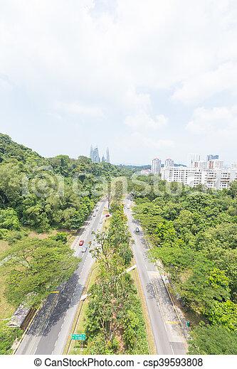 Estacionamiento en Singapur. - csp39593808
