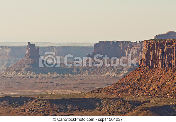 parque, canyonlands, nacional, terreno - csp11564237