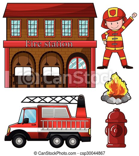 parque de bomberos  bombero parque de bomberos  vector fire station clip art free fire station clipart