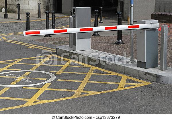 Barrera de aparcamiento - csp13873279