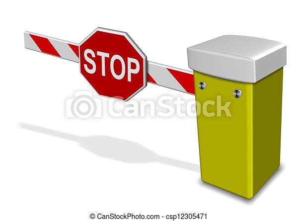 Barrera de aparcamiento - csp12305471