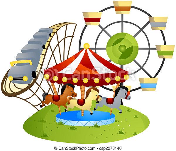 parque, diversión - csp2278140