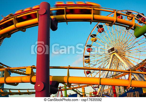 parque, paseos, muelle, diversión - csp17635592