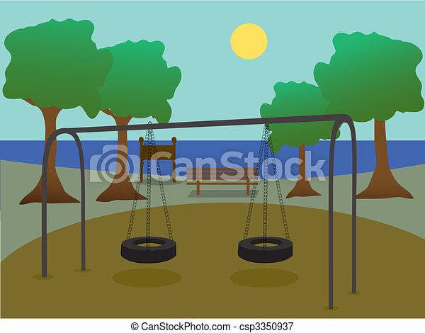 parque, patio de recreo - csp3350937