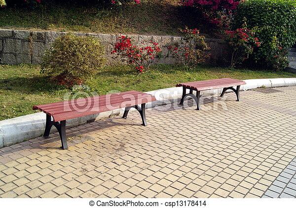 parque, quadrado, tamborete, lazer - csp13178414