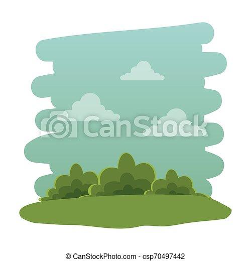 El icono natural del parque recreativo - csp70497442
