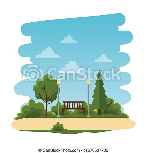 Parque recreativo con silla natural - csp70507702