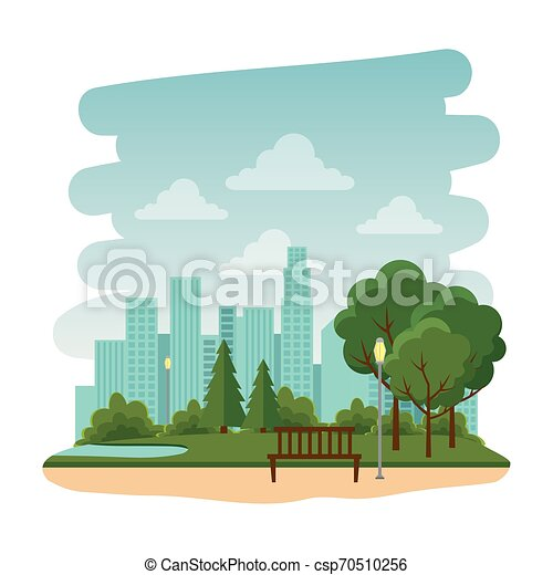 Parque recreativo con silla natural - csp70510256