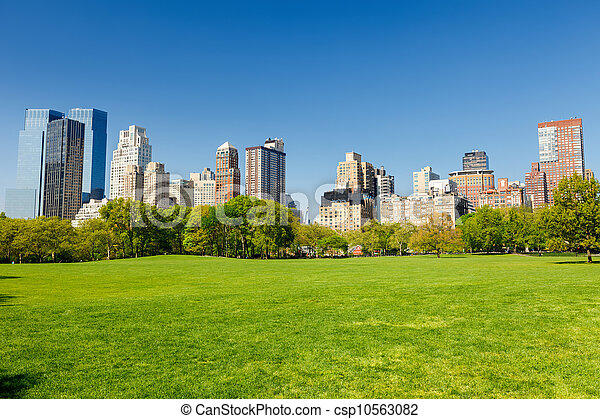 parque, soleado, central, día - csp10563082