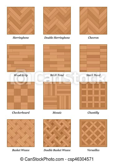 Parquet Floor Pattern Set Parquetry