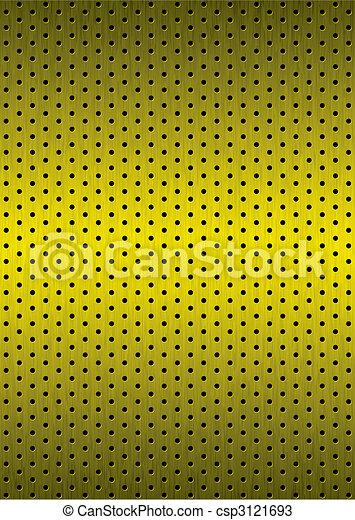 Una parrilla de fondo de metal dorado - csp3121693