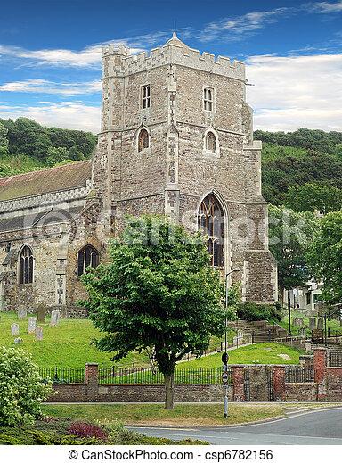 La antigua iglesia parroquial Hastings - csp6782156