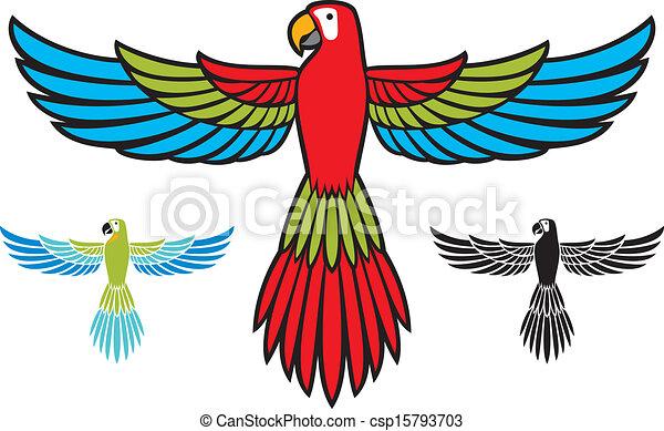 Vector illustration of Cartoon happy parrot flying | Cartoon clip art, Parrot  flying, Fly drawing