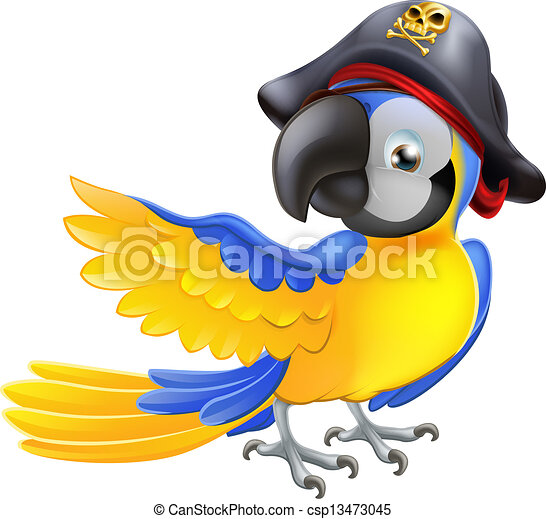 Parrot pirate character - csp13473045