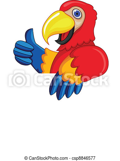 Parrot With Blank Sign - csp8846577