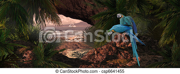 Parrots Of The Caribbean - csp6641455