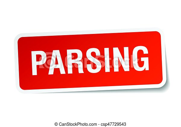 parsing square sticker on white - csp47729543