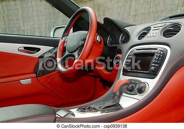 part of a car dashboard - csp0939138