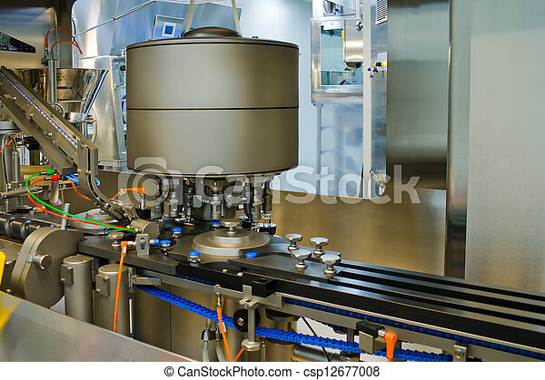 Part of a machine for the production of medicines - csp12677008