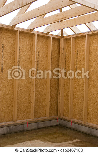 part of a wood house construction - csp2467168