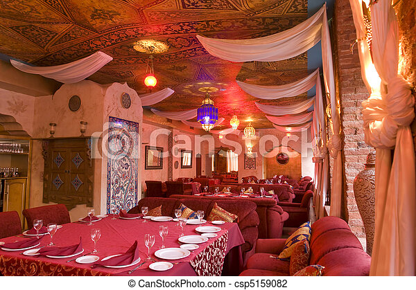 part of an restaurant's interior - csp5159082
