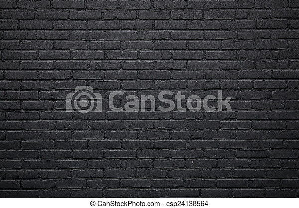 horizontal part of black painted brick wall