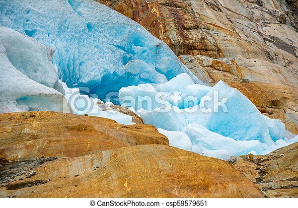 Part of Svartisen Glacier in Norway - csp59579651