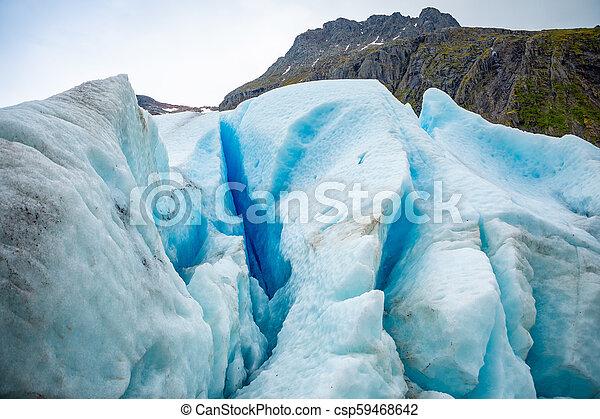 Part of Svartisen Glacier in Norway - csp59468642