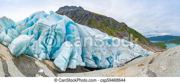 Part of Svartisen Glacier in Norway - csp59468644