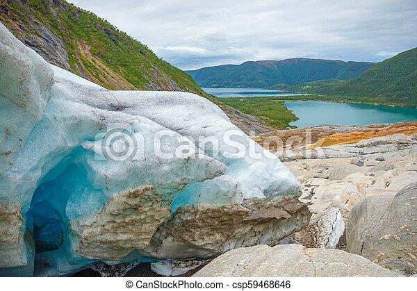 Part of Svartisen Glacier in Norway - csp59468646