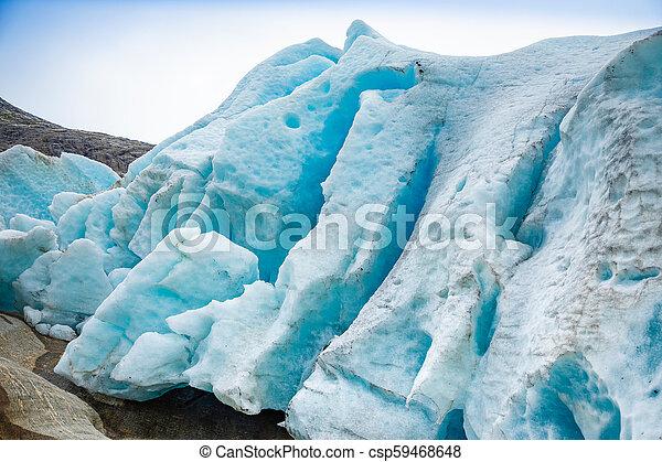 Part of Svartisen Glacier in Norway - csp59468648