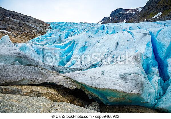Part of Svartisen Glacier in Norway - csp59468922