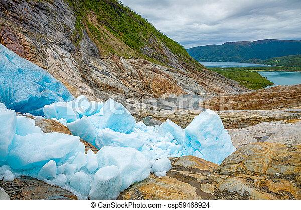 Part of Svartisen Glacier in Norway - csp59468924