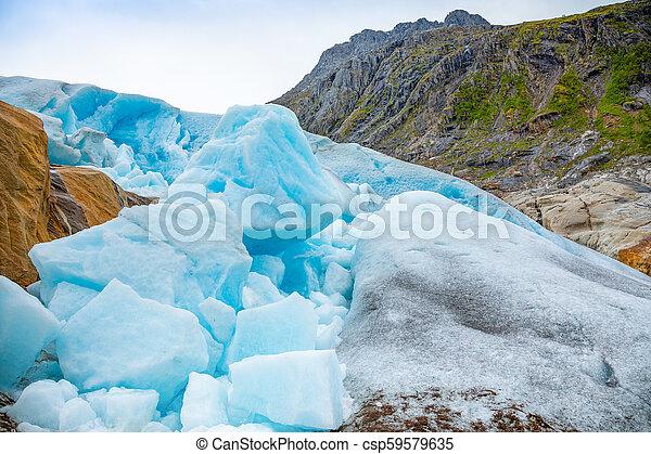 Part of Svartisen Glacier in Norway - csp59579635