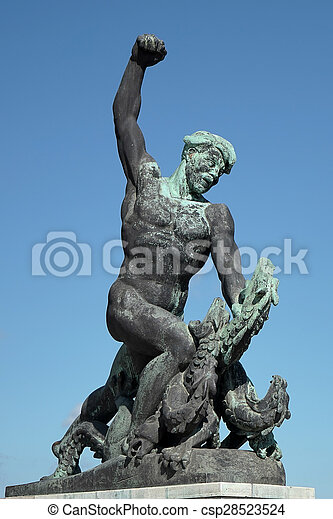Part of the Liberty or Freedom Statue in Budapest - csp28523524
