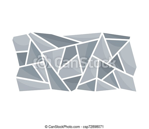 Part of the track. View from above. Vector illustration on a white background. - csp72898071