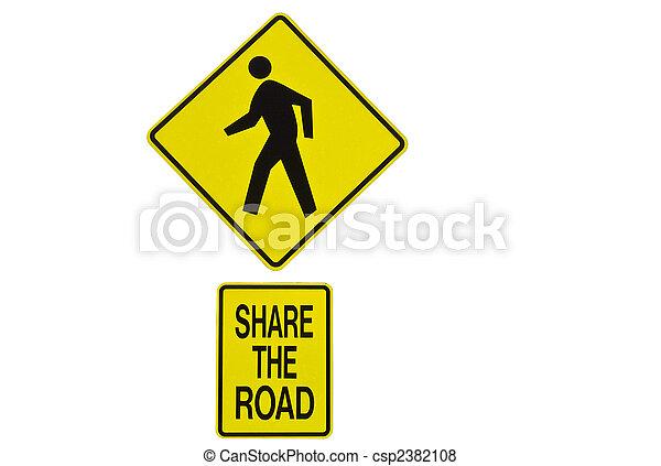 parte, sinal estrada - csp2382108